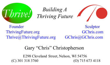 Thrive and GChris Business Card